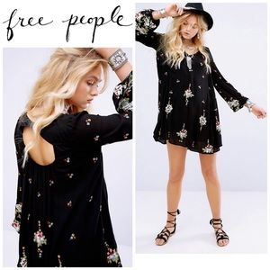 Free People Oxford embroidered mini dress. NWOT